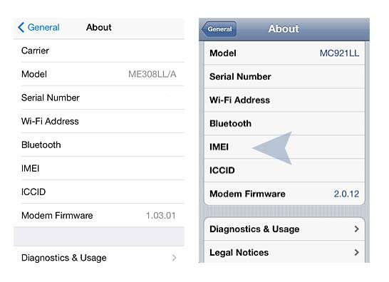 How to find your iphone IMEI