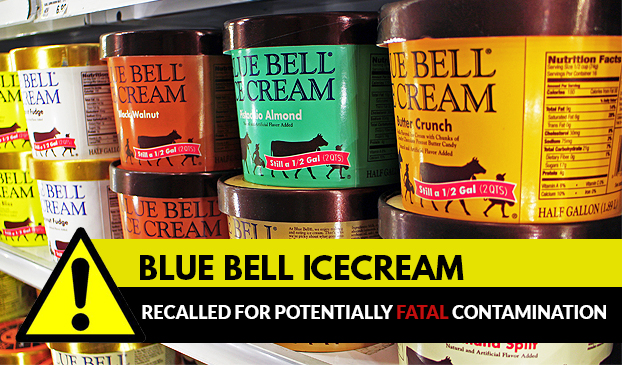 Blue bell ice cream recalled for potentially fatal contamination