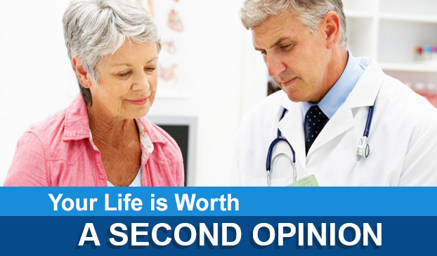 a doctor gives a second opinion