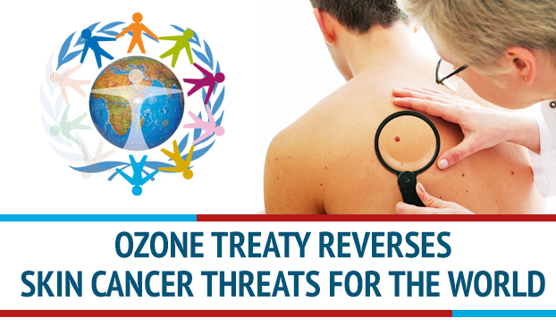 A UN treaty to protect the ozone layer has helped to reduce skin cancer