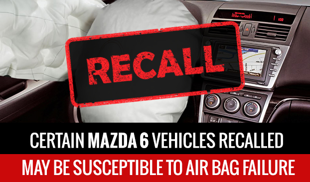 Mazda Recall: Mazda 6 Airbags Could Explode
