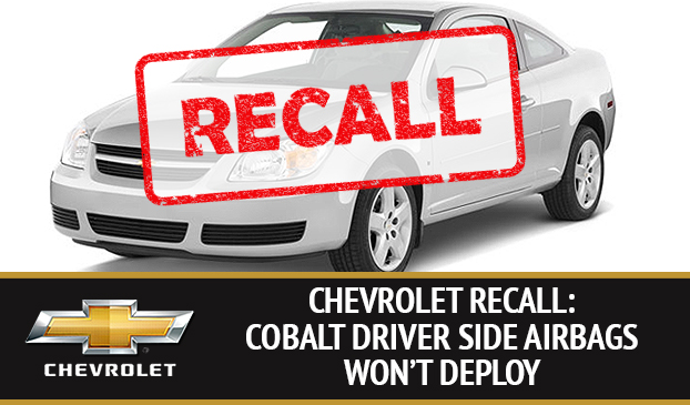 Chevrolet Cobalt Vehicles Recalled Due To Faulty Airbag Hazard