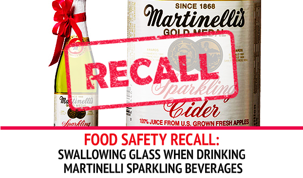 S. Martinelli & Company Recalled Sparkling Beverages Containing Glass Fragments