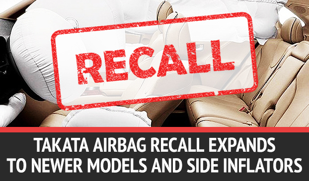Takata Extends Airbags Recalled Due to Problems With Newer Models and Side Door Inflators